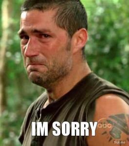 sorry jack shepard