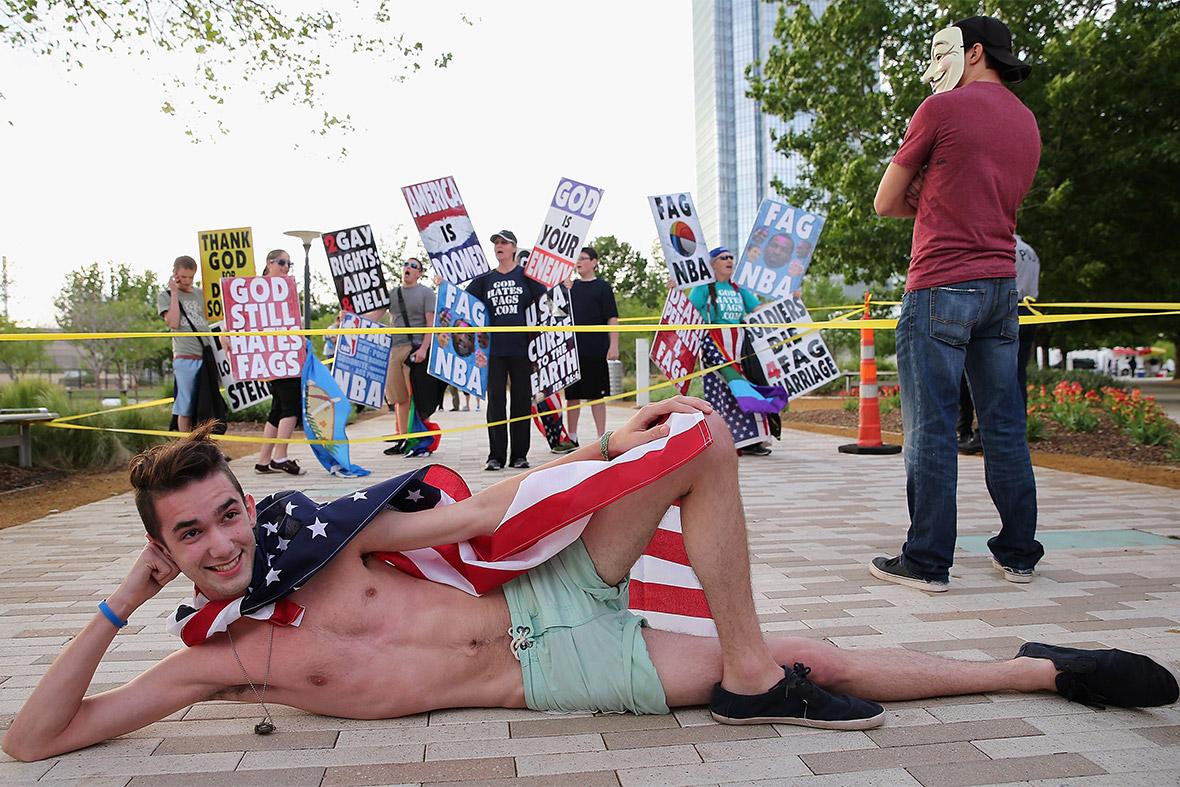 Tynwald gay protest