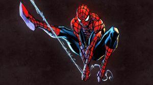 swinging spider-man