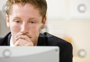 dude staring at computer