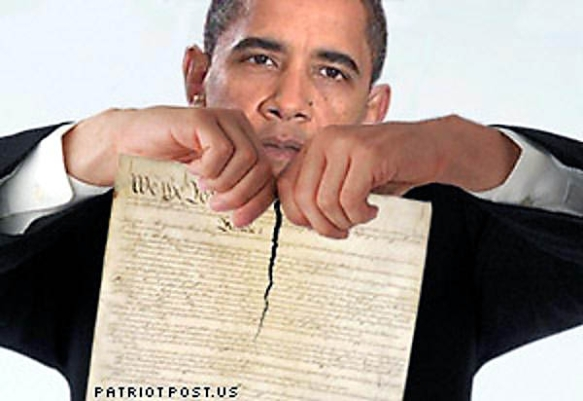 obama with constitution